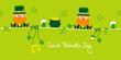 Saint Patrick´s Day 2 Leprechauns & Symbols Light Green