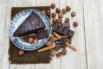 Bizcocho de chocolate casero.