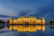 Schloss Belvedere Wien beleuchtet