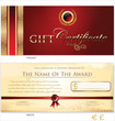 Red and gold Gift certificate