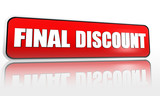 final discount on red banner