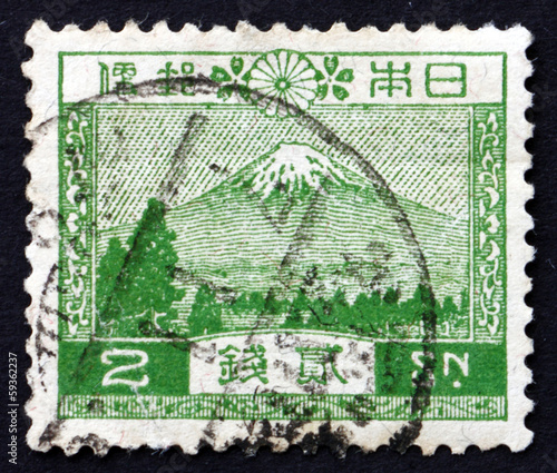 Postage stamp Japan 1926 View of Mt. Fuji