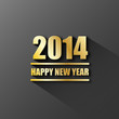 2014 Greeting Card (merry happy new year Christmas gold)