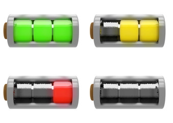 Set of Batteries Illustration