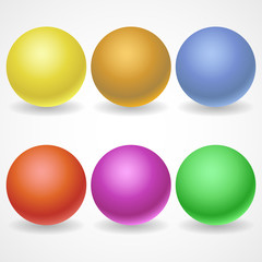 A collection of balls of different colors and lighting for your