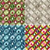 Christmas Quilt Background Collection