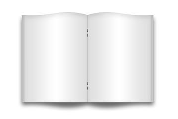 Quaderno aperto bianco