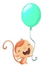 mono con globo