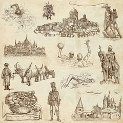 Traveling series: HUNGARY, part 2 - hand drawings, old paper