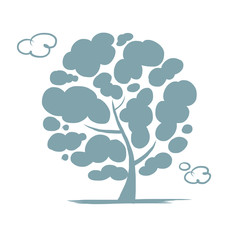 Cloudy tree for your design