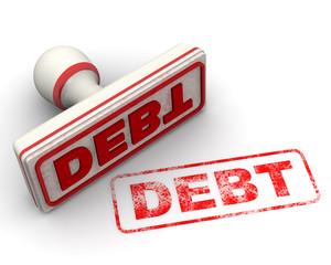 Debt (задолженность). Печать и оттиск