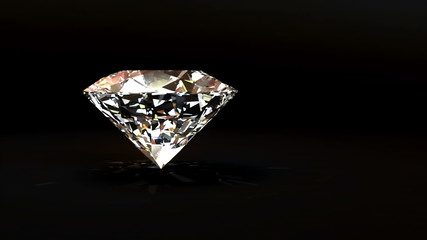 Loopable rotation of a shiny diamond on black background