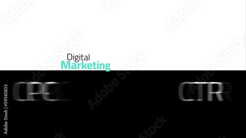Online marketing animation for SEO, SEM, SMM and more