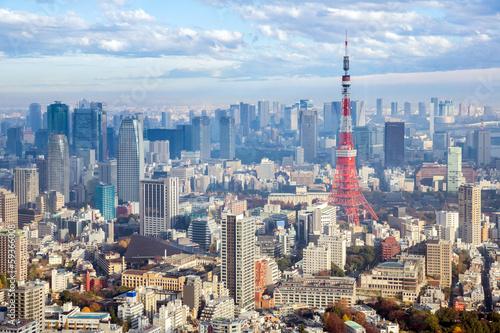 In de dag Historisch mon. Tokyo Tower Japan