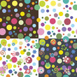Set of colorful seamless textures