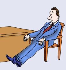 Slumping executive