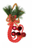 Beautiful candy cane christmas decoration