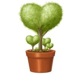 albero cuore