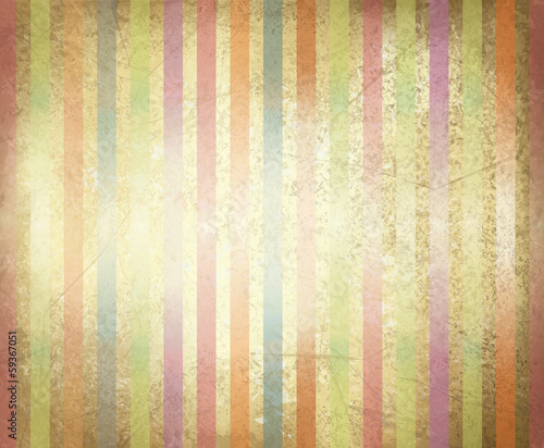 Vector old paper texture with colorful stripes.