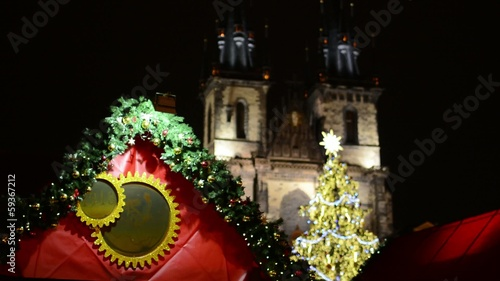 PRAGUE, CZECH REPUBLIC: Christmas shop with branch