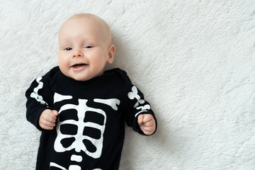 baby dressed skeleton