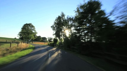 Drining - POV driving shot landscape Germany