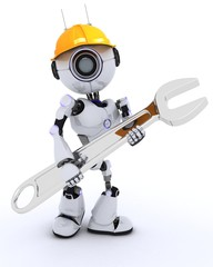 Robot builder with a wrench