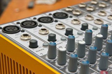 Audio console in my studio