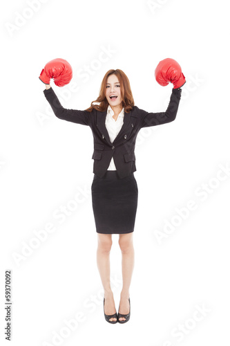Strong businesswoman boss executive concept