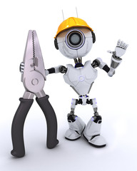 Robot builder with pliers