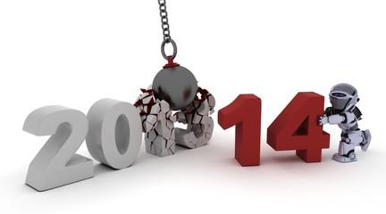 2014 new year wrecking ball