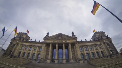 Reichstag building in Berlin, German parliament (Bundestag)