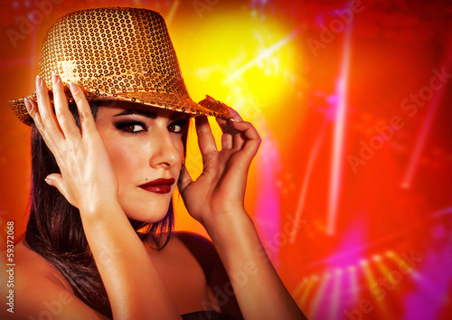 Female wearing stylish hat
