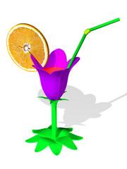 Wineglass - flower