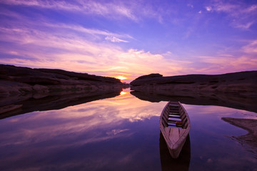 Longtail boat at Grand Canyon in the sunrise, Thailand