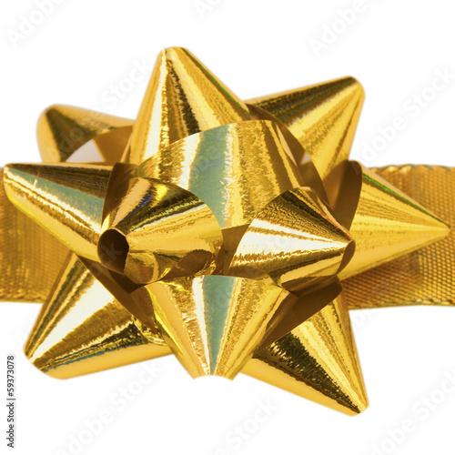 noeud doré décoration cadeau