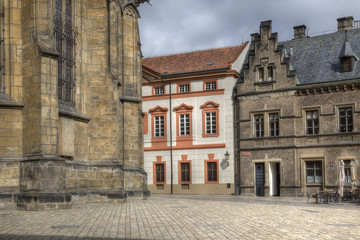On the territory of Saint Vitus Cathedral, Prague. HDR