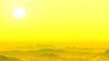 Yellow rocky desert