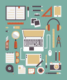 Vector set of equipments for design