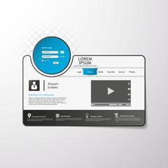 Modern Clean Website Template / Interface Template