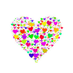 Colorful heart shape
