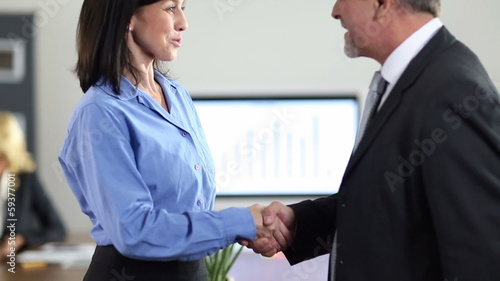 Handshake after business job interview