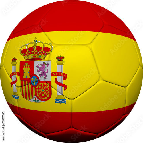 Spanish Flag With Soccer Ball