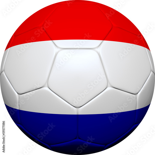 Dutch Netherlands Flag With Soccer Ball