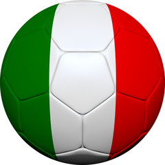 Italian Flag With Soccer Ball