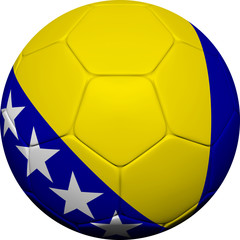 Bosnia and Herzegovina Flag With Soccer Ball