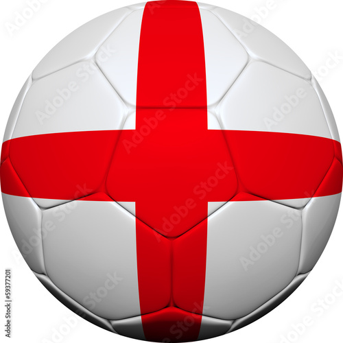 English Flag With Soccer Ball