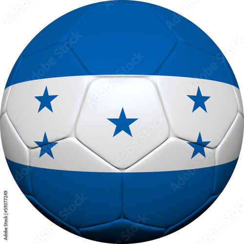 Honduran Flag With Soccer Ball