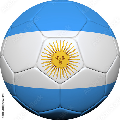 Argentine Flag With Soccer Ball