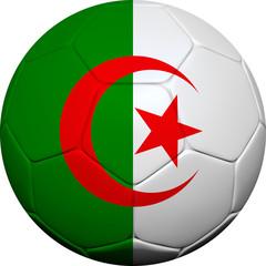 Algerian Flag With Soccer Ball